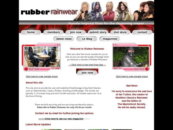Rubber Rainwear Discount Deals