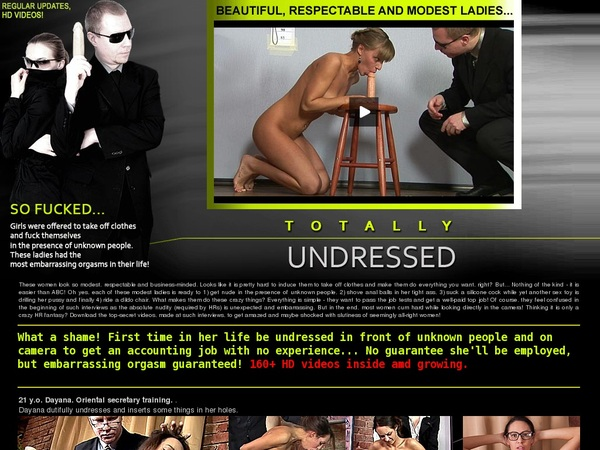 Undressed Totally Sex